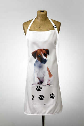 Adorable Jack Russell Design Apron Dog Apron - Adorable Cushions
