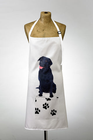 Adorable Black Labrador Design Apron