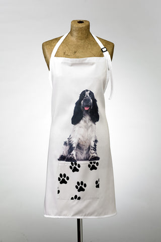 Adorable Black & White Cocker Spaniel Design Apron Dog Apron - Adorable Cushions