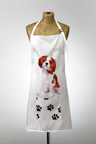 Adorable King Charles Cavalier Design Apron Dog Apron - Adorable Cushions