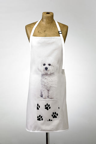 Adorable Bichon Frise Design Apron Dog Apron - Adorable Cushions