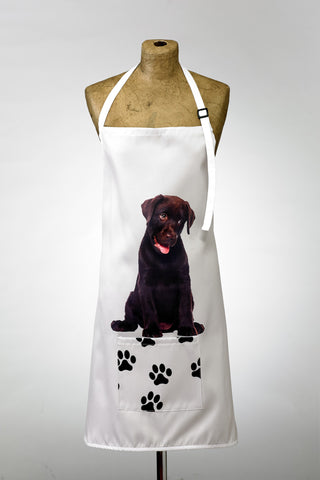 Adorable Chocolate Labrador Design Apron Dog Apron - Adorable Cushions