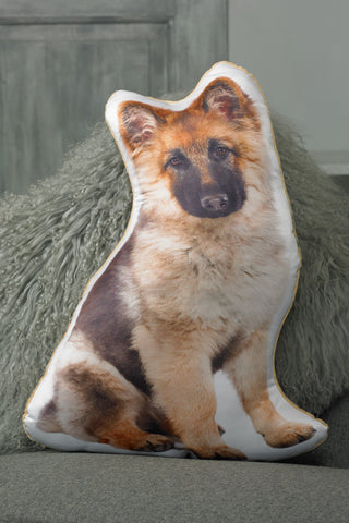Adorable Long Haired German Shepherd Shaped Cushion Dog Cushions - Adorable Cushions