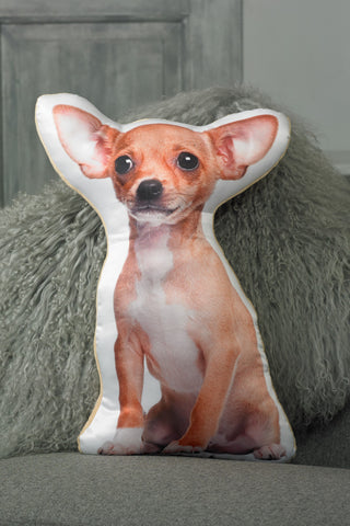 Adorable Short Haired Chihuahua Shaped Cushion Dog Cushions - Adorable Cushions