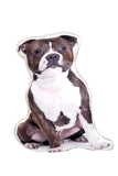 Adorable Staffordshire Bull Terrier Shaped Cushion