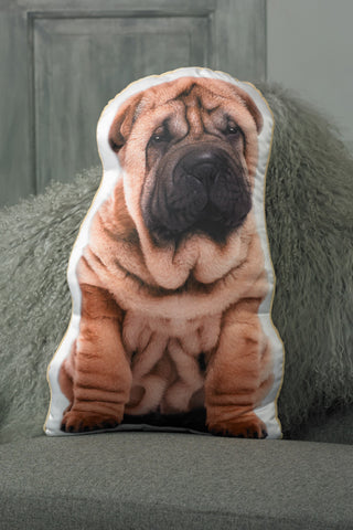Adorable Shar Pei Shaped Cushion