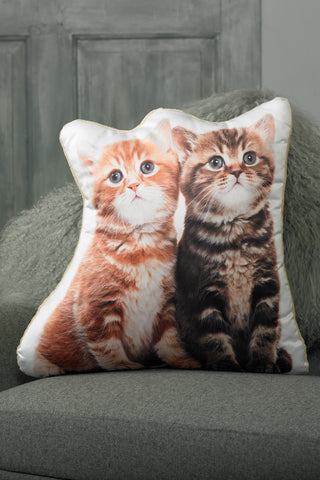 Adorable Kitten Shaped Cushion