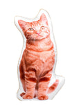 Adorable Ginger Cat Shaped Cushion Cat Cushions - Adorable Cushions
