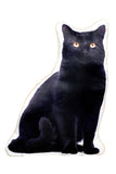 Adorable Black Cat Shaped Cushion