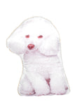 Adorable White Poodle Shaped Cushion Dog Cushions - Adorable Cushions