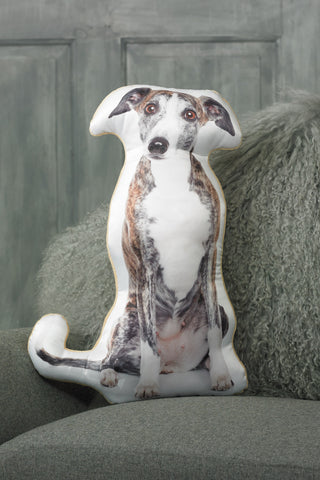 Adorable Greyhound Shaped Cushion