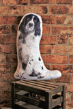 Adorable Black & White Springer Spaniel Shaped Cushion Dog Cushions - Adorable Cushions
