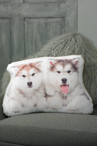 Adorable Alaskan Malamute Shaped Cushion Dog Cushions - Adorable Cushions