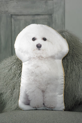Adorable Bichon Frise Shaped Cushion Dog Cushions - Adorable Cushions