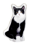 Adorable Black & White Cat Shaped Cushion Cat Cushions - Adorable Cushions