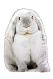Adorable Grey Rabbit Shaped Cushion Other Animal Cushions - Adorable Cushions