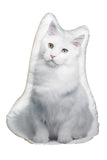 Adorable White Cat Shaped Cushion Cat Cushions - Adorable Cushions
