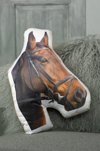 Adorable Brown Horse Shaped Cushion
