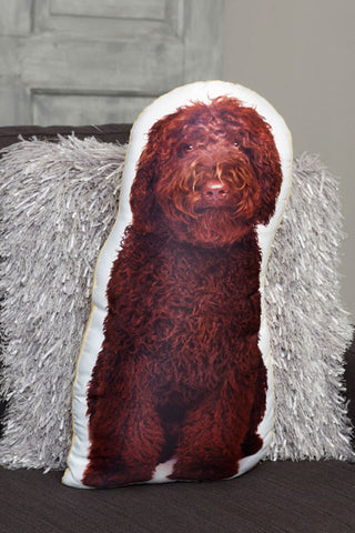 Adorable Chocolate Cockapoo Shaped Cushion Dog Cushions - Adorable Cushions