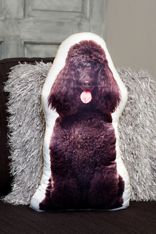 Adorable Black Poodle Shaped Cushion Dog Cushions - Adorable Cushions
