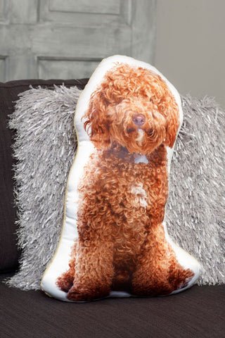 Adorable Apricot Cockapoo Shaped Cushion Dog Cushions - Adorable Cushions