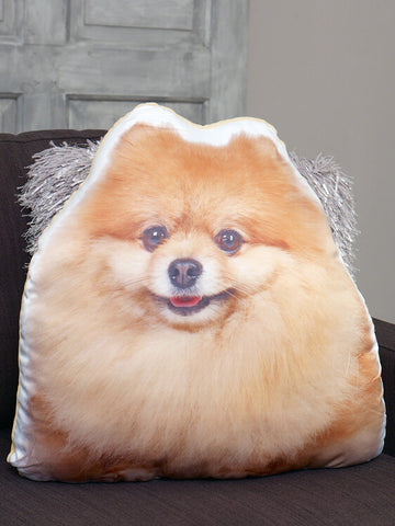 Adorable Pomeranian Shaped Cushion Dog Cushions - Adorable Cushions