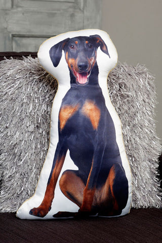 Adorable Doberman Shaped Cushion Dog Cushions - Adorable Cushions