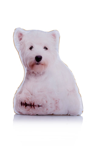 Adorable West Highland Terrier Shaped Midi Cushion Dog Midi - Adorable Cushions