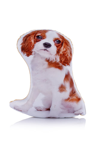 Adorable Blenheim King Charles Cavalier Spaniel Shaped Midi Cushion Dog Midi - Adorable Cushions