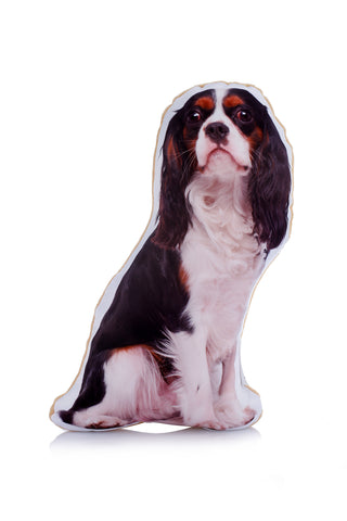 Adorable Tri Colour King Charles Cavalier Shaped Midi Cushion Dog Midi - Adorable Cushions