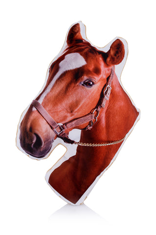 Adorable Chestnut Horse Shaped Midi Cushion Other Animal Midi Cushions - Adorable Cushions