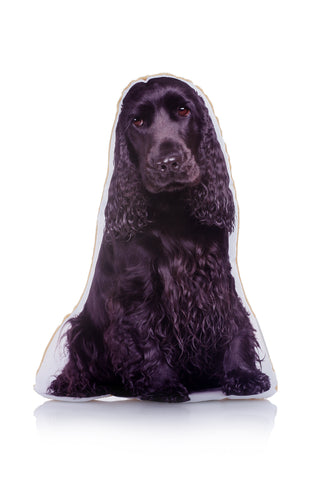 Adorable Black Cocker Spaniel Shaped Midi Cushion Dog Midi - Adorable Cushions