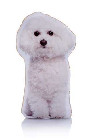 Adorable Bichon Frise Shaped Midi Cushion Dog Midi - Adorable Cushions