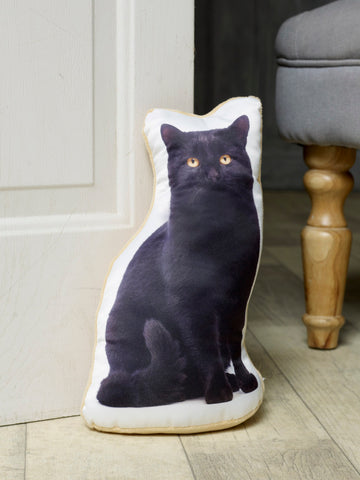 Adorable Black Cat Doorstop Cat Doorstop - Adorable Cushions