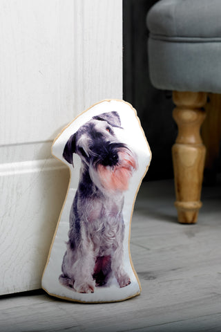 Adorable Schnauzer Shaped Doorstop Dog Doorstop - Adorable Cushions