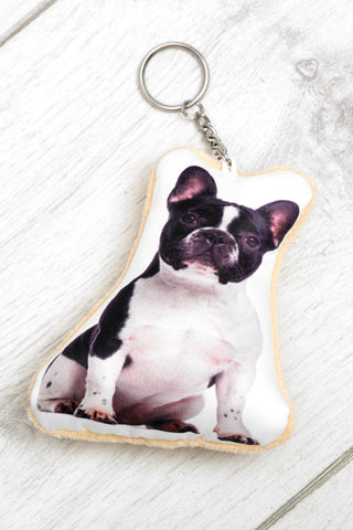 Adorable French Bulldog Shaped Keyring Dog Keyrings - Adorable Cushions