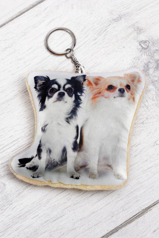 Adorable Chihuahua Shaped Keyring