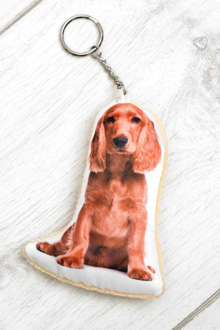 Adorable Golden Cocker Spaniel Shaped Keyring Dog Keyrings - Adorable Cushions