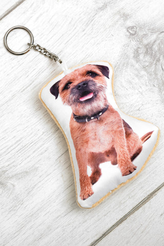 Adorable Border Terrier Shaped Keyring Dog Keyrings - Adorable Cushions