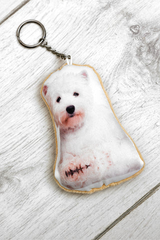 Adorable West Highland Terrier Shaped Keyring Dog Keyrings - Adorable Cushions