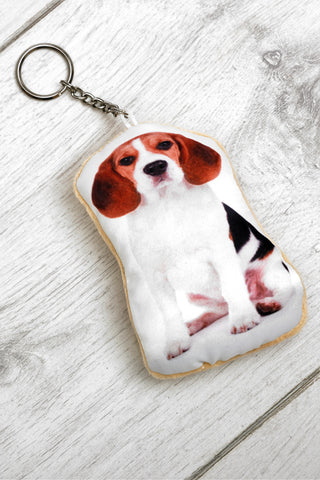 Adorable Beagle Shaped Keyring Dog Keyrings - Adorable Cushions