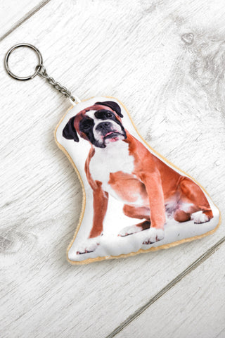Adorable Boxer Shaped Keyring Dog Keyrings - Adorable Cushions