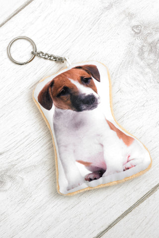 Adorable Jack Russell Shaped Keyring