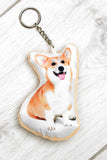 Adorable Corgi Shaped Keyring Dog Keyrings - Adorable Cushions