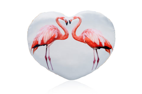 Heart Shaped Flamingo Cushion Other Animal Cushions - Adorable Cushions