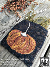 Autumn In The Garden ~ Punch Needle Embroidery Pattern