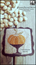 Autumn Blessings Primitive Punch Needle Pattern