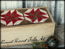 Civil War Sewing Box ~  Primitive Punch Needle Embroidery Pattern