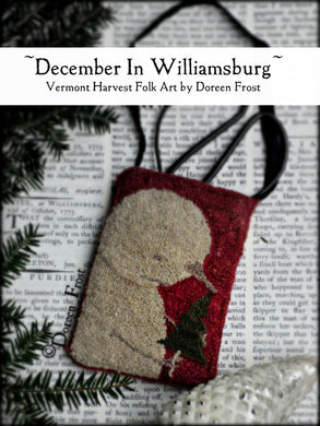 December In Williamsburg ~ Punch Needle Embroidery Pattern
