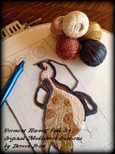 Goode Mistress Woodson~  Primitive Punch Needle Embroidery Pattern